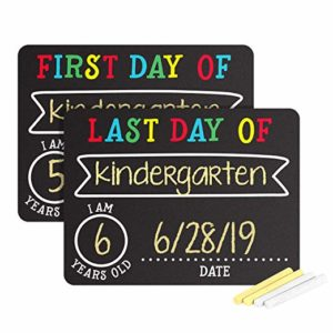 First and Last Day of School Photo Sharing Chalkboard Signs – $14.98!
