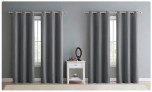 Jordan Triple Weave 152″ x 84″ Blackout Window Curtain Panel (4-Pack) ONLY $27!!