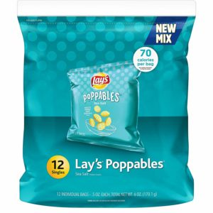Lay's Poppables Sea Salt Potato Snacks, 12 Count as low as $2.99!