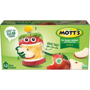 Kroger: Mott's Applesauce Clear Pouches 12-count Only $3.99!