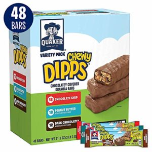 Quaker Chewy Dipps Chocolatey Covered Granola Bars, Variety Pack, 48 Bars as low as $8.02 Shipped!