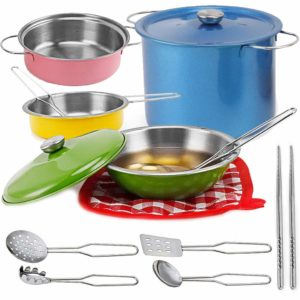 Stainless Steel Metal Pots and Pans Kitchen Cookware Playset Only $14.95!