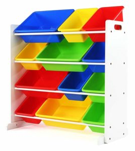 Tot Tutors Kids' Toy Storage Organizer with 12 Plastic Bins – $39.99 Shipped – Best Price!