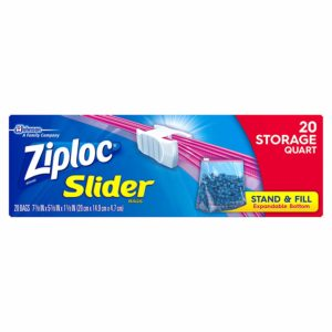 Ziploc Slider Storage Bags, Quart, 20 Count as low as $0.78!