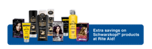 BOGO Gliss or got2b styling products + $7 Bonus Cash wyb $25 Schwarzkopf products at Rite Aid!