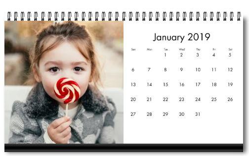 Personalized Desktop Calendar Only $2.99! (reg. $9.99)