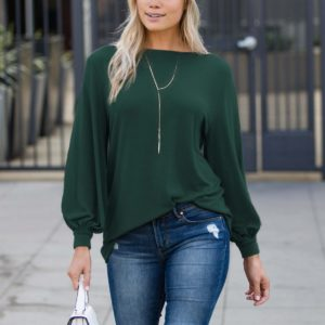 Blouson Boatneck Top Only $19.99!