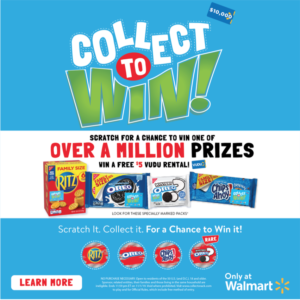 Collect to Win at Walmart with Nabisco RITZ, OREO, and CHIPS AHOY!