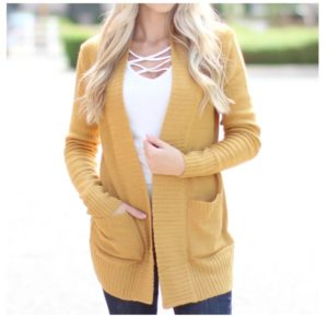 Fall Sweater Cardigan was $39.99, NOW $16.99!