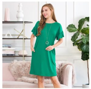 Flutter Sleeve Pocket Dress Only $14.99 Shipped!