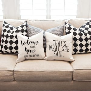 Funny Pillow Covers Only $11.99!