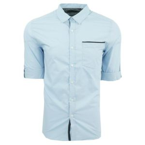 Kenneth Cole Reaction Men's Solid Roll Up Shirt Only $9.99 + FREE Shipping!