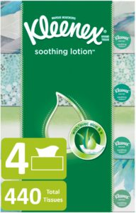 Kroger: Kleenex Soothing Lotion Facial Tissues Flat Box 4 count Only $3.32!