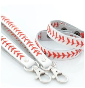 Leather Baseball Bracelet or Key Chain Only $4.99!