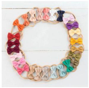 Linen Mini Bow Tie Nylon Headbands Only $1.99!
