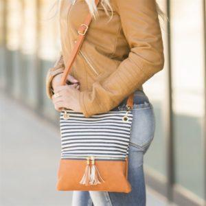 Trendy Stripes Crossbody Bag was $34.99, NOW $15.99!