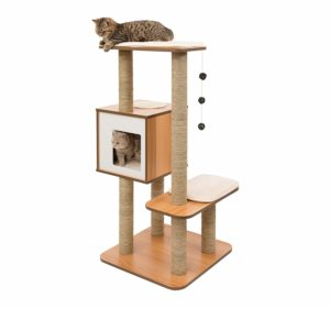 Vesper Cat Tree Scratching Post with Condo was $129.99, NOW $57.98!