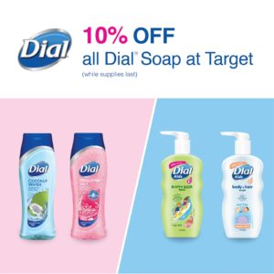 Target: 10% OFF All Dial Soap!