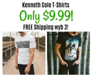 Kenneth Cole T-Shirts Only $9.99 + FREE Shipping wyb 3!
