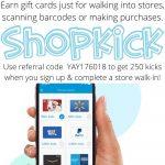 Do you Shopkick? Earn Gift Cards Easily!