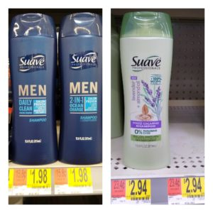 Walmart: Suave Professionals Shampoo or Conditioner AND Suave Men Shampoo as low as $0.82 each!