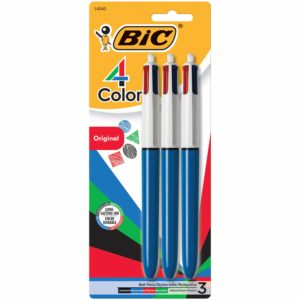 BIC 4-Color Ballpoint Pen 3 pack Only $3.18 – Ends Tonight!