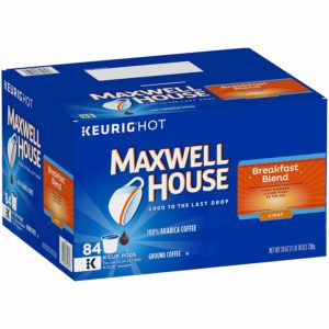 Maxwell House Breakfast Blend Keurig K Cup Coffee Pods, 84 Count as low as $21.40 Shipped! ($0.25/cup)