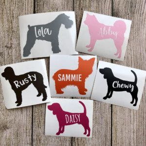 Personalized Dog Decal – Ships for $6.98!