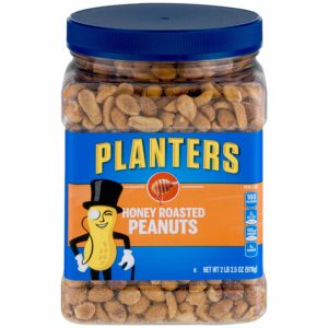 Planters Dry Honey Roasted Peanuts, 34.5 Ounce, Pack of 2 as low as $6.74! ($3.37 each)