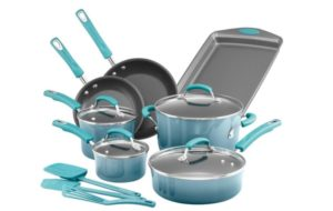 Rachael Ray Classic Brights Porcelain Nonstick Cookware Set (14-Piece) Only $99.99!
