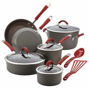 Rachael Ray Cucina Hard Anodized Nonstick Cookware Pots and Pans Set, 12 Piece Only $89.24 Shipped!