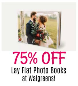 75% OFF Premium Lay Flat Photo Books at Walgreens.com!