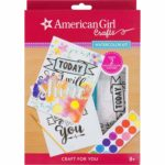 American Girl Crafts Watercolor Motivational Wall Décor Kit Only $4.96! Lowest Price!