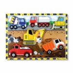 Melissa & Doug Wooden Chunky Puzzle - Construction Vehicles Only $6.99!