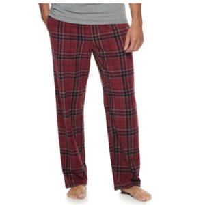 Men's Croft & Barrow Patterned Microfleece Sleep Pants Only $8.49!