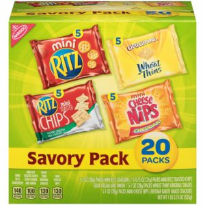 Nabisco Savory Cracker Variety Pack, 20 count pack as low as $4.24! ($0.21 each)