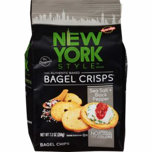 New York Style Bagel Crisps, Sea Salt + Black Pepper, 7.2 Ounce as low as $1.88!