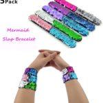 Mermaid Sequin Slap Bracelets, 5 pack Only $7.99!