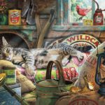 Buffalo Games Cats Collection Laid-Back Tom 750 Piece Jigsaw Puzzle Only $9.97!
