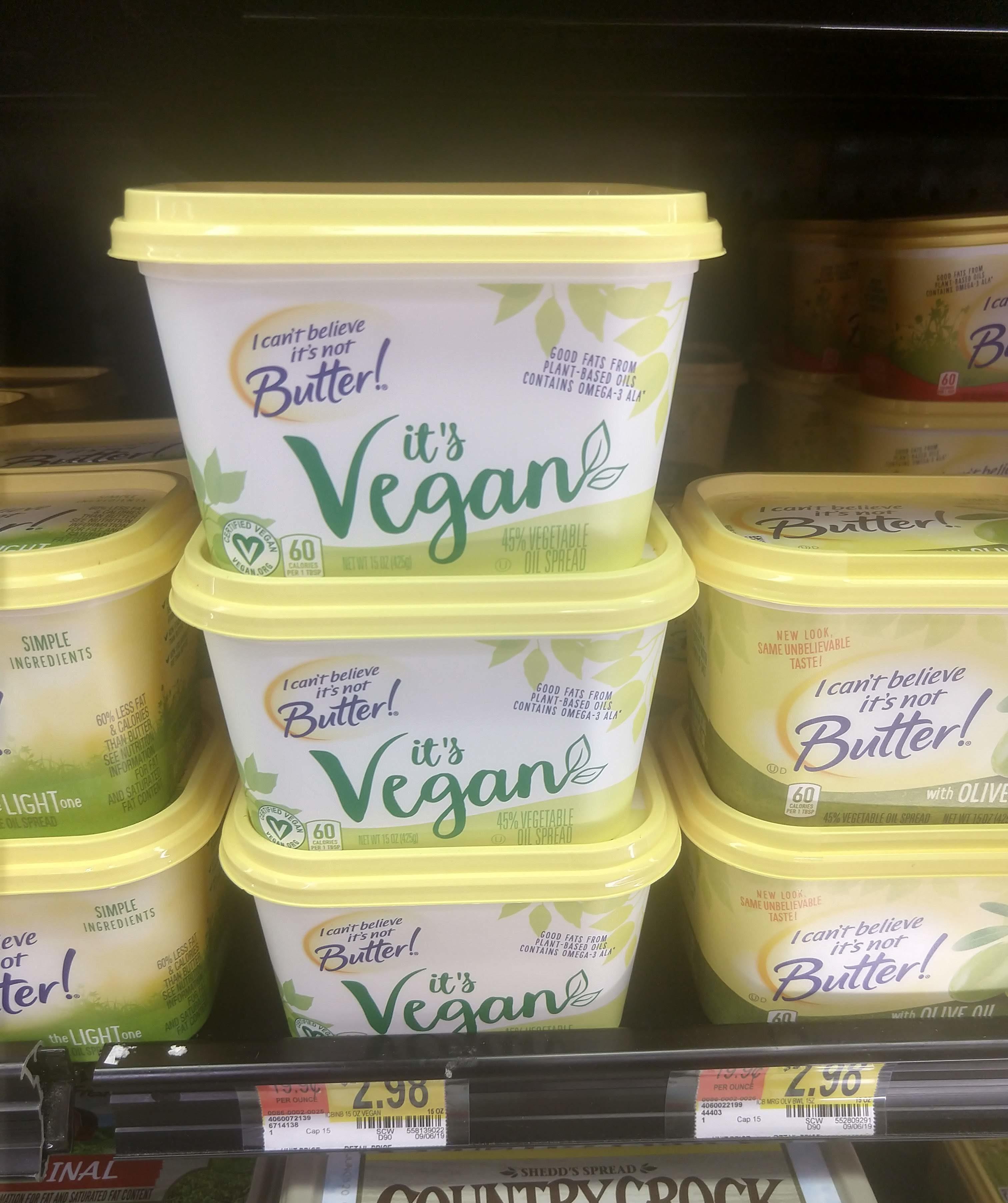 Walmart: I Can't Believe It's Not Butter It's Vegan Only $0.46!