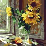 Sunflower Paint by Number Kit Only $11.89!
