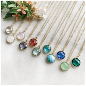 Birthstone Pendant Necklace Only $9.99 + FREE Shipping!