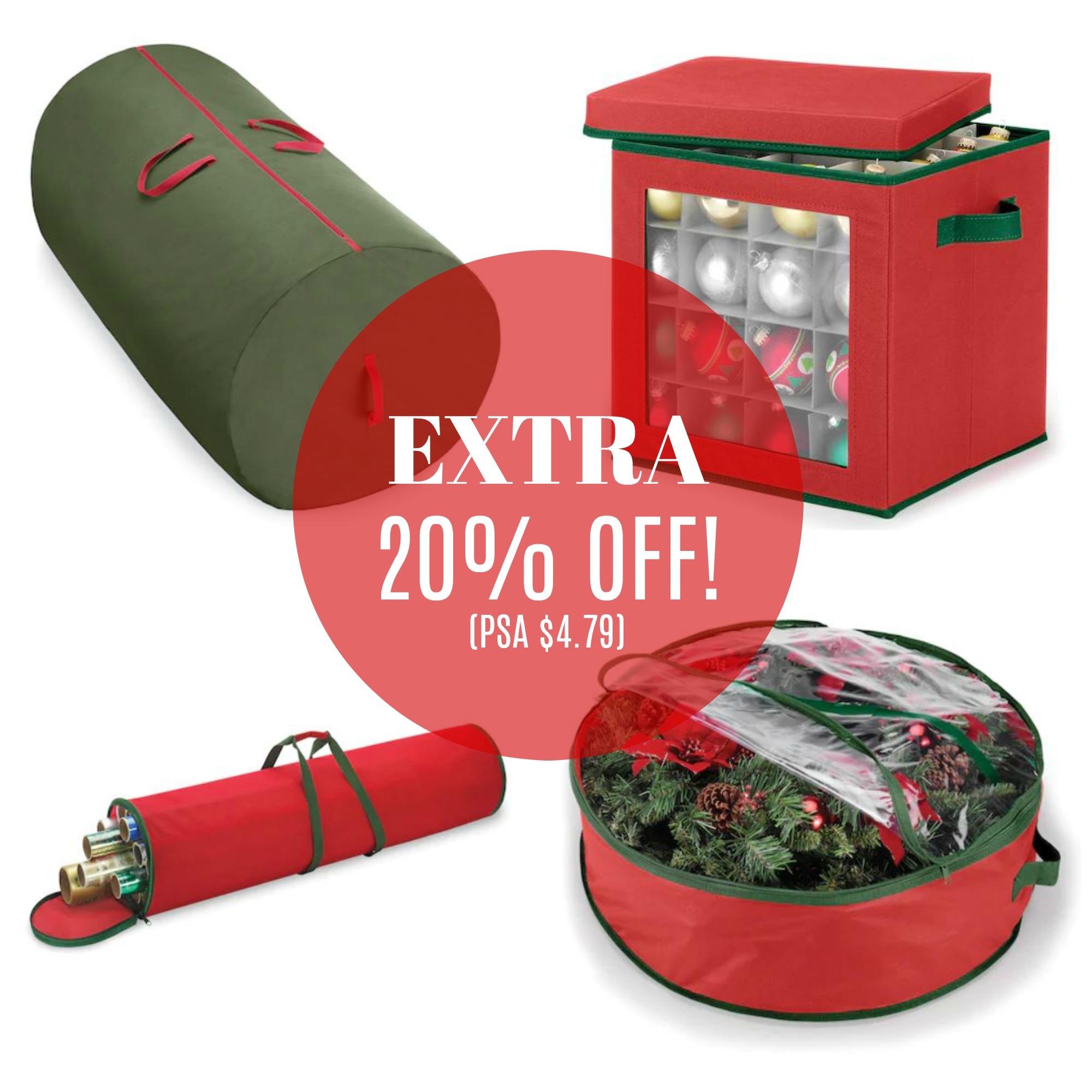 Whitmor Christmas Storage Bags as low as $4.79!