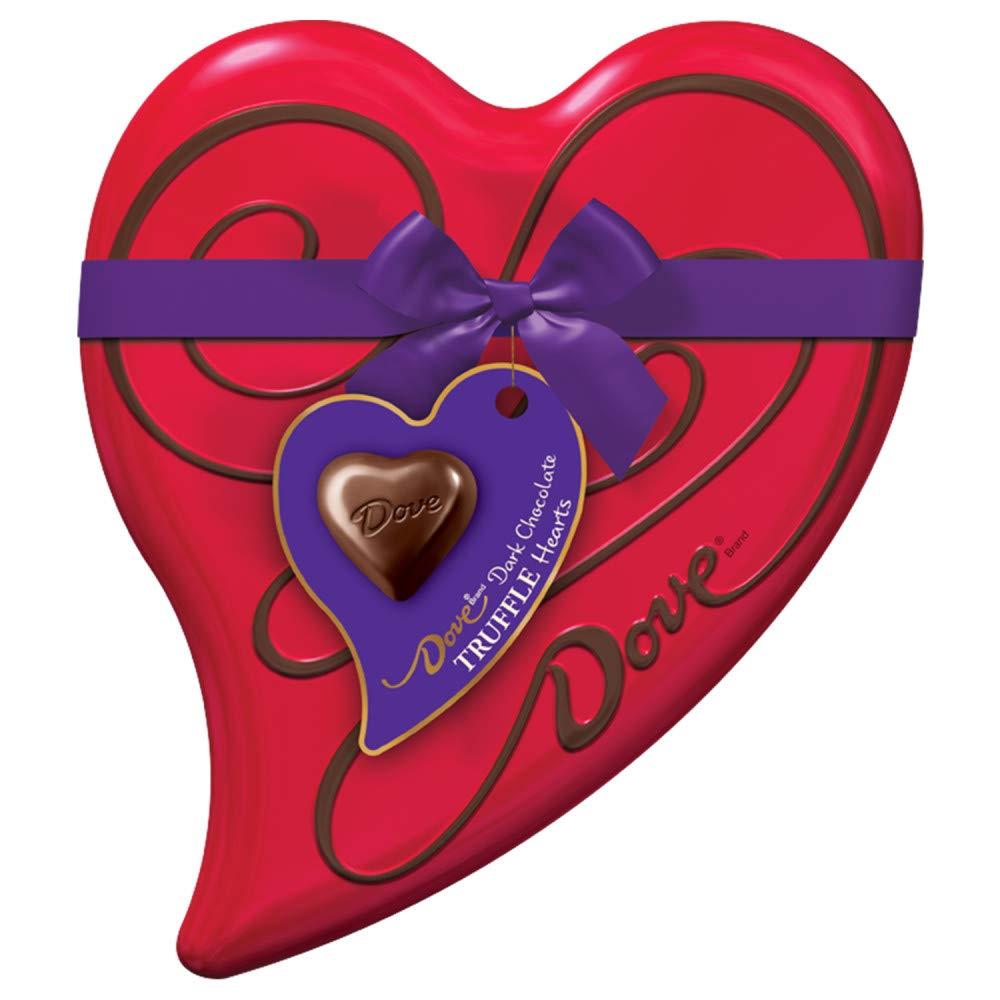 DOVE Valentine's Candy Truffles Heart Gift Box, 18 Pieces as low as $2.94!