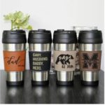 Leather and Stainless Steel Mug - Customized - Only $12.99!
