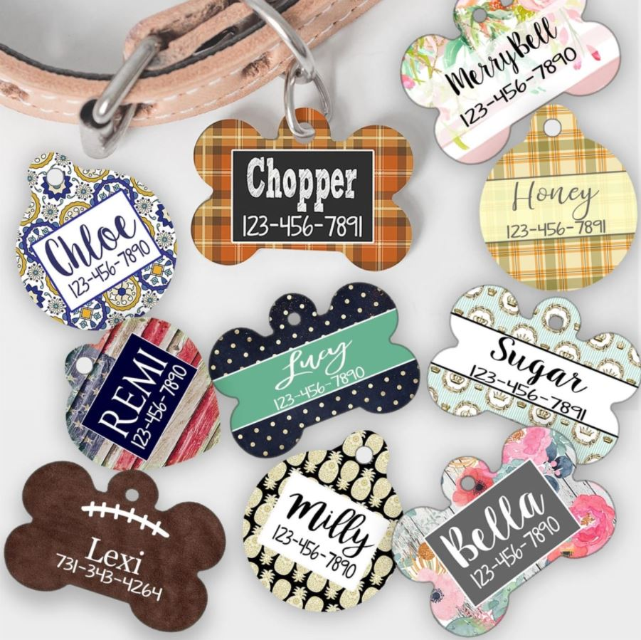 CUTE Personalized Pet Tags Only $5.99!