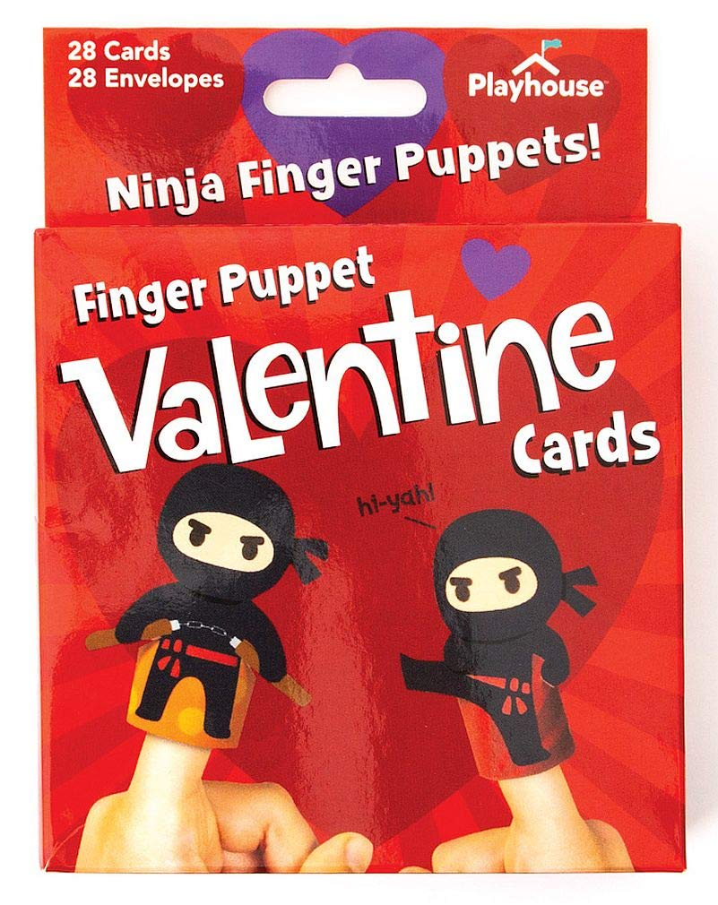 Super Ninja Finger Puppets Valentines, 28 Count Only $7.99!