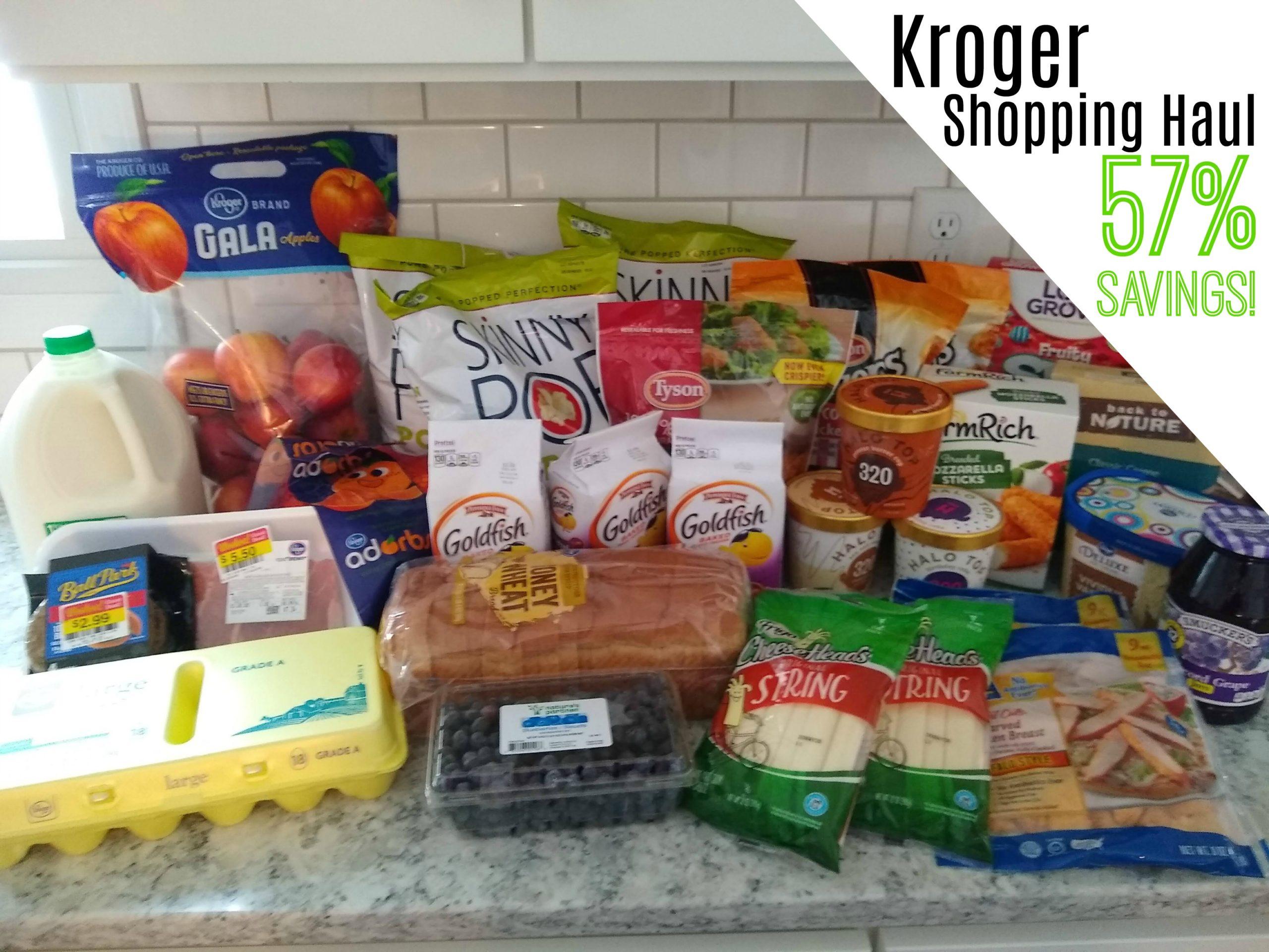 Kroger Shopping Haul – 57% Savings!
