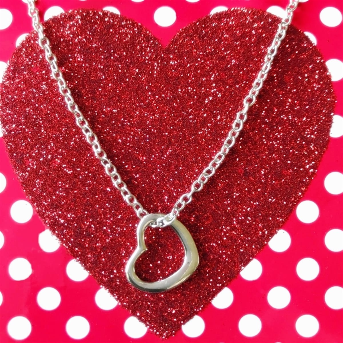 Silver Open Heart Necklace Just $6.99 + FREE Shipping!