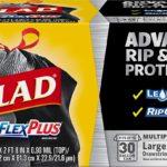 Glad Large Drawstring Trash Bags ForceFlexPlus 30 Gallon Black Trash Bag - 25 Count as low as $6.87!